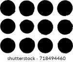 grunge post stamps collection ... | Shutterstock .eps vector #718494460