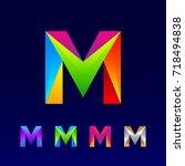 letter m logotype design set... | Shutterstock .eps vector #718494838