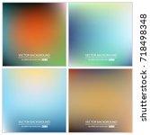 abstract creative concept... | Shutterstock .eps vector #718498348
