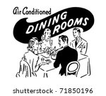 dining rooms   retro ad art... | Shutterstock .eps vector #71850196