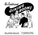 dining rooms   retro ad art... | Shutterstock .eps vector #71850196