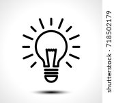 light bulb idea vector logo... | Shutterstock .eps vector #718502179