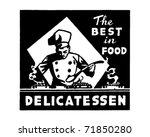 delicatessen   retro ad art... | Shutterstock .eps vector #71850280