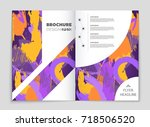 abstract vector layout... | Shutterstock .eps vector #718506520