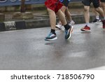 group of people running race... | Shutterstock . vector #718506790