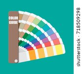 color swatch. color palette... | Shutterstock . vector #718509298