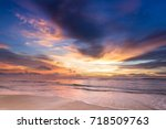 scene of beautiful pastel sweet ... | Shutterstock . vector #718509763