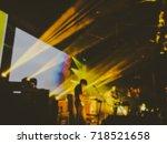 abstract blurred . concert in...   Shutterstock . vector #718521658