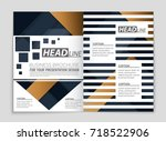 abstract vector layout... | Shutterstock .eps vector #718522906