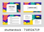 abstract vector layout... | Shutterstock .eps vector #718526719