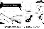 business card template. elegant ...   Shutterstock .eps vector #718527640