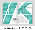 abstract vector layout... | Shutterstock .eps vector #718528180