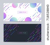 vector abstract motion... | Shutterstock .eps vector #718528840