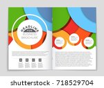 abstract vector layout... | Shutterstock .eps vector #718529704