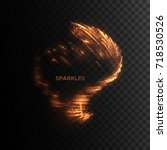 glowing flame sparks isolated... | Shutterstock .eps vector #718530526