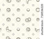 vector bakery banner template.... | Shutterstock .eps vector #718536220