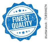 finest quality stamp | Shutterstock .eps vector #718544074