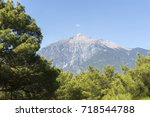 tahtali mountain  olympos... | Shutterstock . vector #718544788