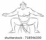 isolated illustration of sumo...