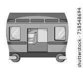 wagon  single icon in...   Shutterstock .eps vector #718548694