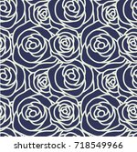 seamless pattern with white... | Shutterstock .eps vector #718549966
