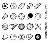 sport world symbol and icon | Shutterstock .eps vector #718553494