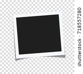 rectangle photo frame vector... | Shutterstock .eps vector #718557280