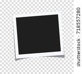 rectangle photo frame vector... | Shutterstock .eps vector #718557280