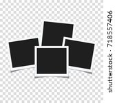 squares frame template with... | Shutterstock .eps vector #718557406