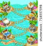 cartoon game treasure template... | Shutterstock .eps vector #718557598