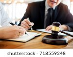business people and lawyers... | Shutterstock . vector #718559248