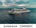 white passenger ship photo from ... | Shutterstock . vector #718560823