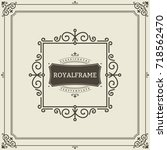 frame template. vintage... | Shutterstock . vector #718562470