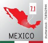 mexico earthquake   Shutterstock . vector #718562944