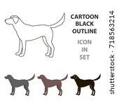 Stock vector labrador vector icon in cartoon style for web 718563214