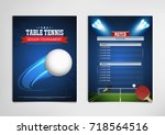 ping pong or table tennis... | Shutterstock .eps vector #718564516