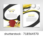 ping pong or table tennis... | Shutterstock .eps vector #718564570