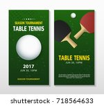 ping pong or table tennis... | Shutterstock .eps vector #718564633