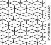monochrome seamless pattern... | Shutterstock . vector #718566304