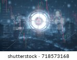 financial and technology concept | Shutterstock . vector #718573168