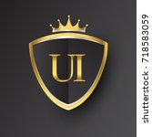 initial logo letter ui with...