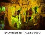caves dels hams interior | Shutterstock . vector #718584490