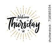 welcome thursday   fireworks  ... | Shutterstock .eps vector #718585354
