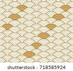 japanese pattern seamless... | Shutterstock .eps vector #718585924