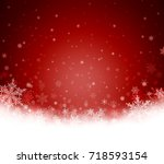 decorative red christmas... | Shutterstock . vector #718593154