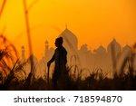 agra uttar pradesh  india  24... | Shutterstock . vector #718594870