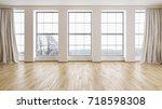 modern bright interiors. 3d... | Shutterstock . vector #718598308