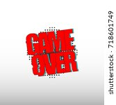 game over icon vector | Shutterstock .eps vector #718601749