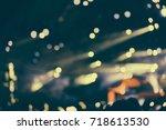 defocused entertainment concert ... | Shutterstock . vector #718613530