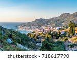 view on samos island  greece | Shutterstock . vector #718617790